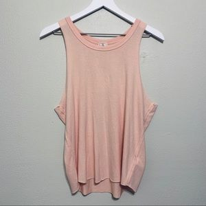 {Free People} We The Free Pink Cozy Tank Top NWT